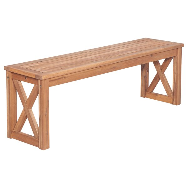 X Leg Patio Wood Picnic Bench by Rosecliff Heights