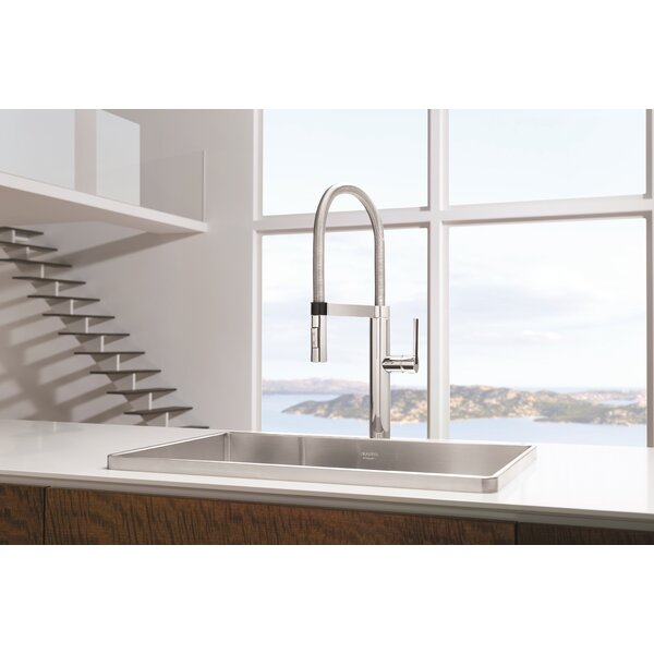 Blanco Culina Pull Down Single Handle Kitchen Faucet with Magnetic Docking by Blanco Blanco