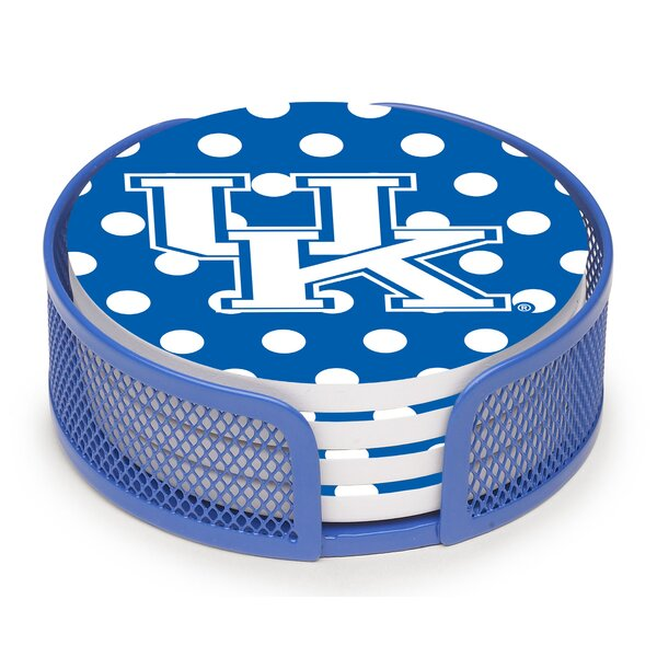 5 Piece University of Kentucky Dots Collegiate Coaster Gift Set by Thirstystone
