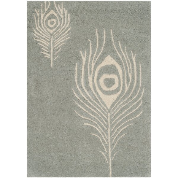 Dorthy Grey / Ivory Contemporary Rug by Bloomsbury Market