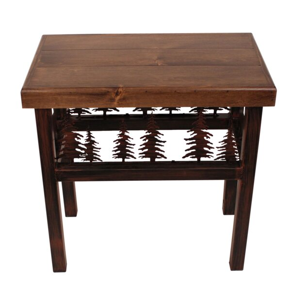 Alisha Moose/Feather End Table by Millwood Pines