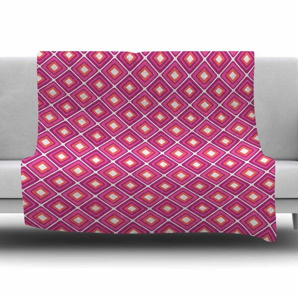 Bright Squares by Nandita Singh Fleece Blanket by East Urban Home