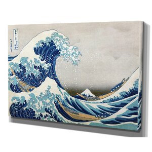 'The Great Wave' by Katsushika Hokusai Framed Painting Print by Wexford Home