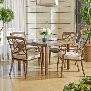 Outdoor 5 Piece Dining Set with Cushions ByTrisha Yearwood Home Collection