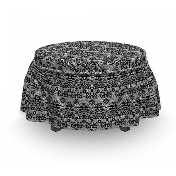 Lace Ottoman Slipcover (Set Of 2) By East Urban Home
