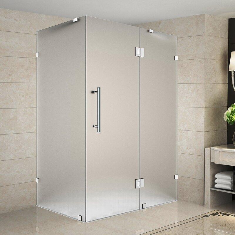 Avalux 48 X 72 Hinged Frameless Shower Door