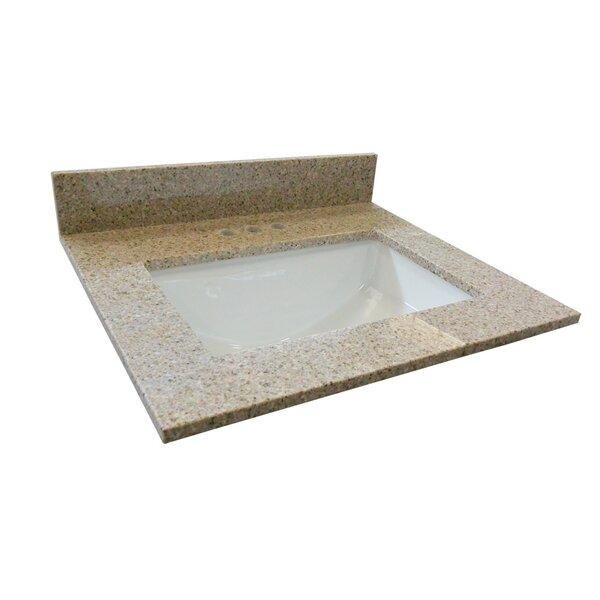 Single Bowl Granite Vanity Top 25 by Design House