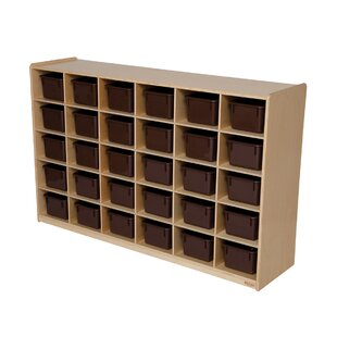 Compare prices Natural Environment 30 Compartment Cubby By Wood Designs