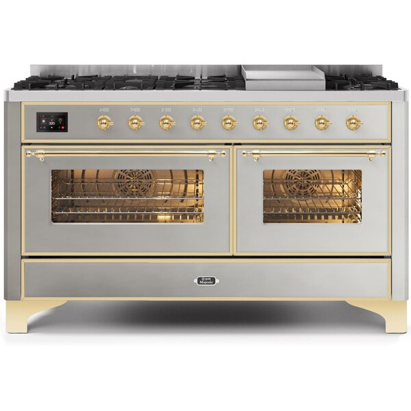 Majestic II 60 5.8 cu. ft. Freestanding Dual Fuel Range with Griddle