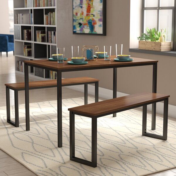 Bargain Frida 3 Piece Dining Table Set By Modern Rustic Interiors Comparison