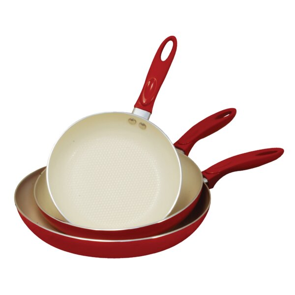 3 Piece Non-Stick Frying Pan Set by Cook Pro