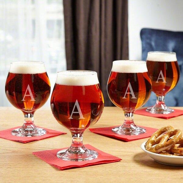 Blandford Classic Personalized 16 oz. Glass Snifter Glass Set (Set of 4) by Darby Home Co