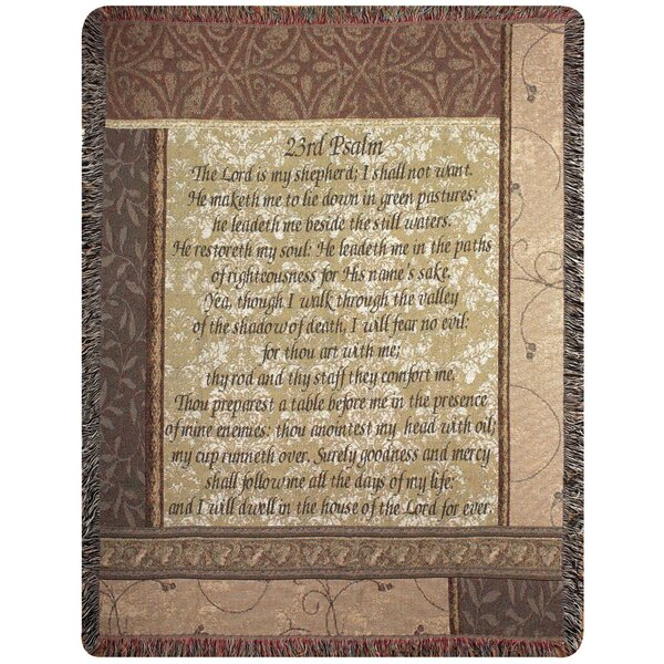 My Shepherd 23rd Psalm Tapestry Cotton Throw by Manual Woodworkers & Weavers