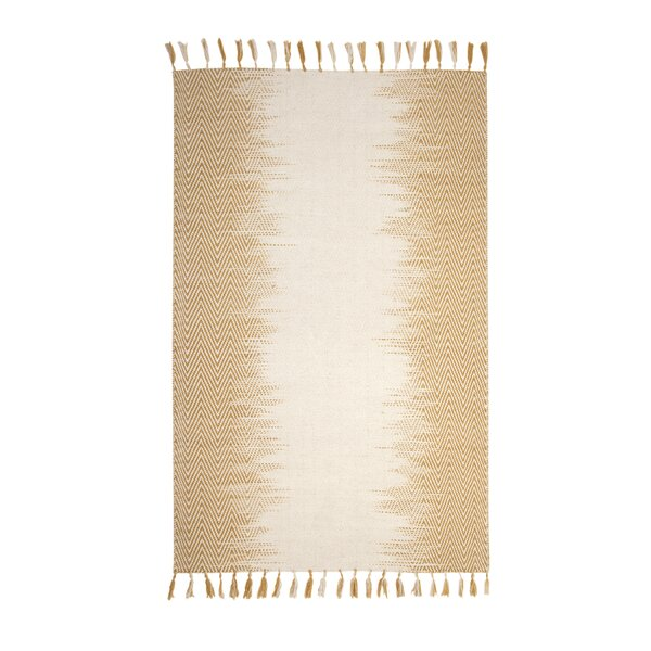 Briarden Hand-Woven Wool Yellow/Ivory Indoor Area Rug by Bungalow Rose