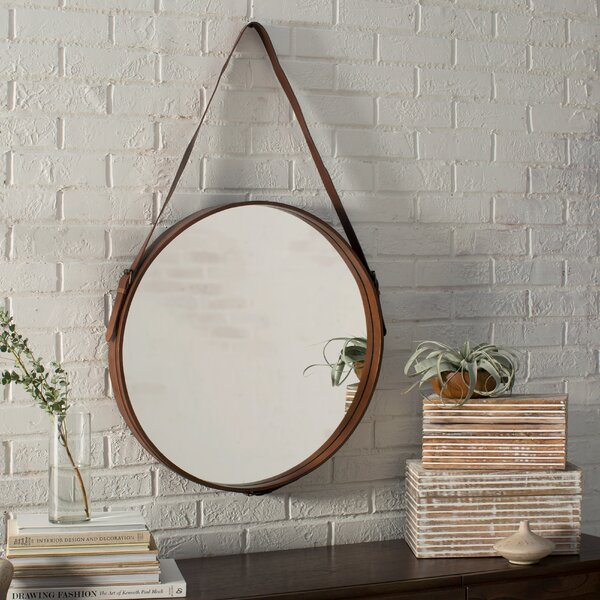 Bombay Distressed Vertical Round Wall Mirror by Langley Street