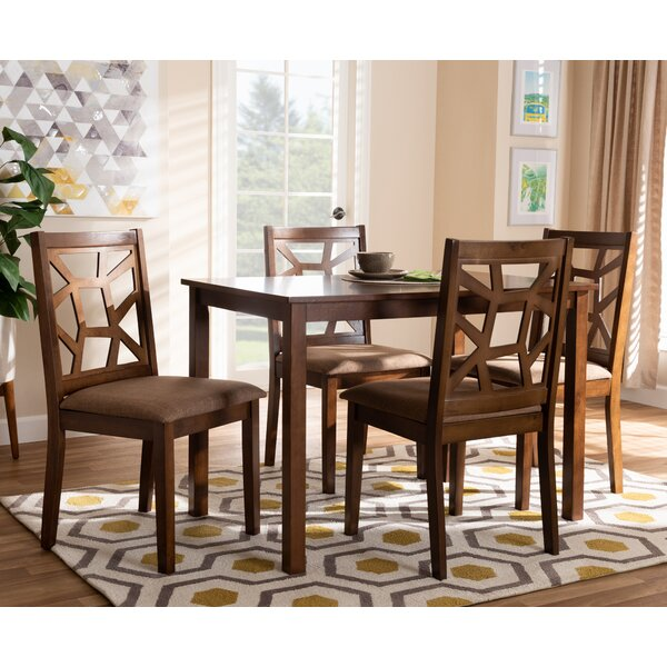 Westberg Fabric Upholstered 5 Piece Dining Set by Ebern Designs