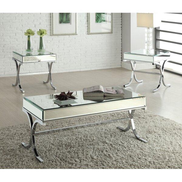 Compare Khalid 3 Piece Coffee Table Set by Rosdorf Park