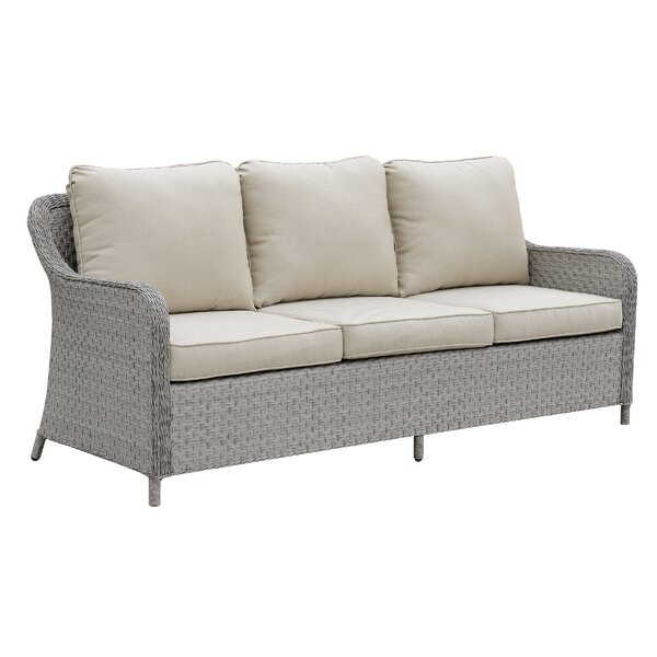 Newberg Patio Sofa with Cushions by Charlton Home