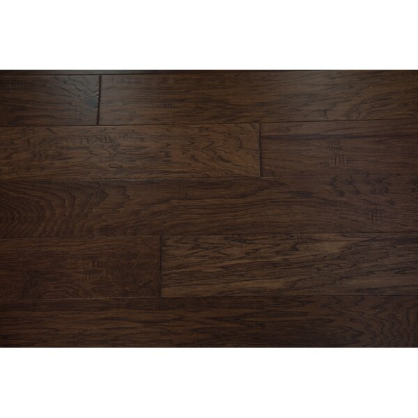Monaco 5 Engineered Hickory Hardwood Flooring in Espresso by Branton Flooring Collection