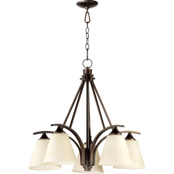 Feliciana 5 - Light Shaded Classic / Traditional Chandelier By Charlton Home