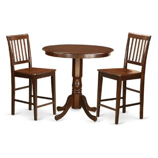 Compare Jackson 3 Piece Counter Height Pub Table Set ByWooden Importers