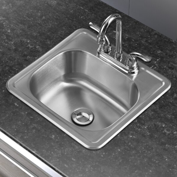 15 L x 15 W Single Basin Drop-In Bar Sink by Winpro