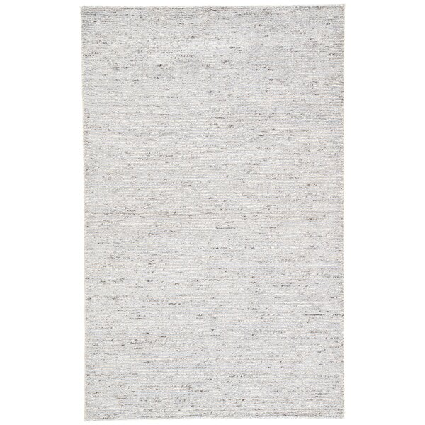Hollman Hand-Woven Dusty Blue/Feather Gray Area Rug by Highland Dunes