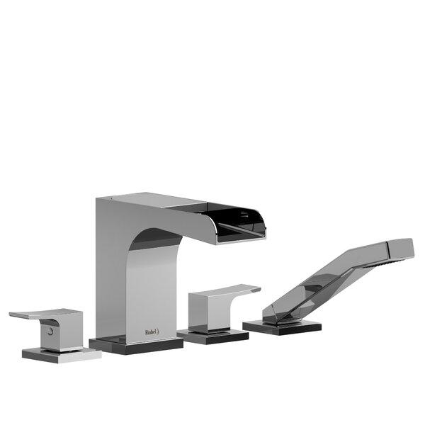 Zendo Double Handle Deck Mounted Roman Tub Faucet by Riobel Riobel