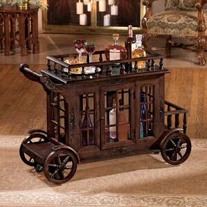 Cranbrook Manor Cordial Carriage Bar Cart by Design Toscano