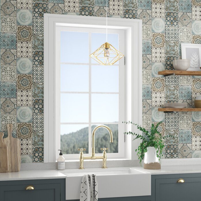 Cormier Moroccan Tile 18 L X 20 5 W Peel And Stick Wallpaper Roll