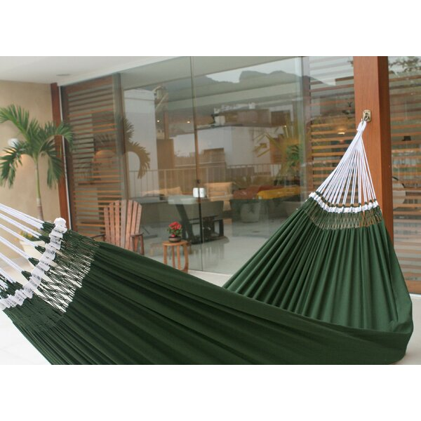 Double Person Fair Trade Portable  Hand-Woven Brazilian Cotton Indoor And Outdoor Hammock by Novica
