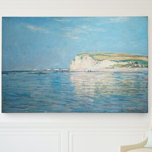 'Low Tide at Pourville' by Claude Monet Painting Print on Wrapped Canvas by Wexford Home