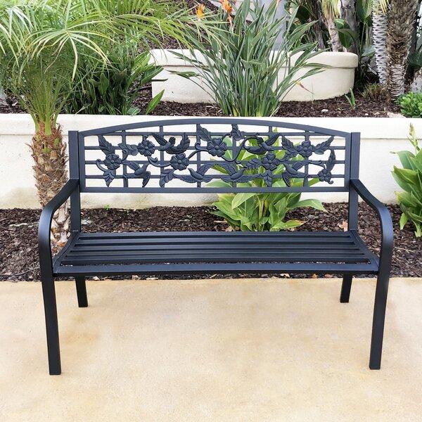 Blazice Steel Garden Bench by Charlton Home