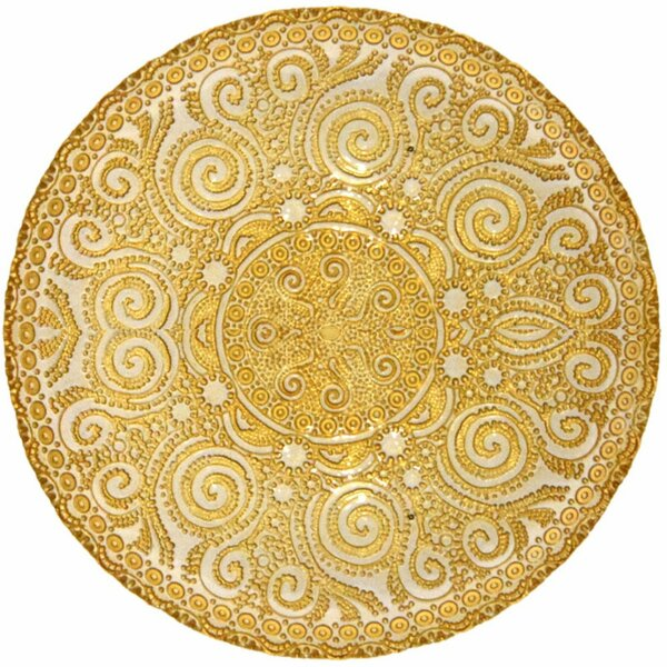 Cozine Enticing Electroplated Glass Charger Decorative Plate by World Menagerie
