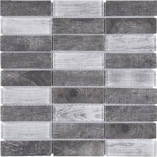 Recycle 1.3 x 4 Mixed Material Tile in Gray by Multile