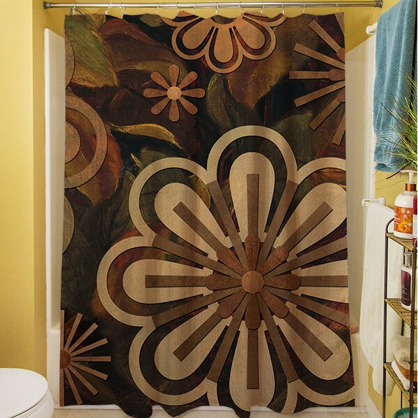 Floral Abstract II Shower Curtain by Manual Woodworkers & Weavers