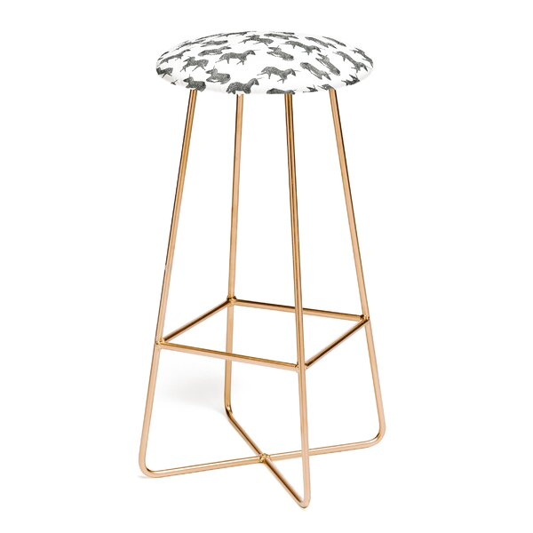 Dash and Ash Sleepy Unicorn 31 Bar Stool by East Urban Home