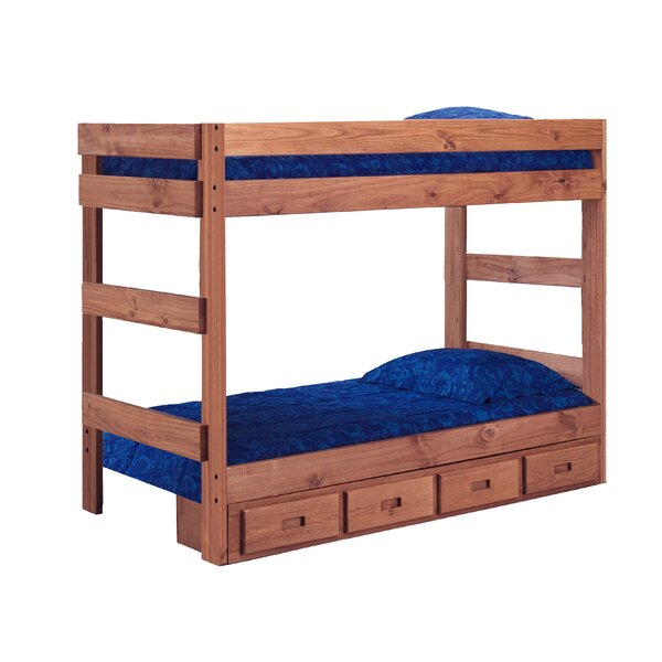 Chmura One Piece Bunk Bed with Drawers by Harriet Bee