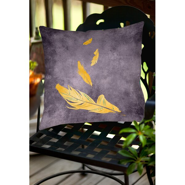 Feather Float Indoor/Outdoor Throw Pillow by Manual Woodworkers & Weavers