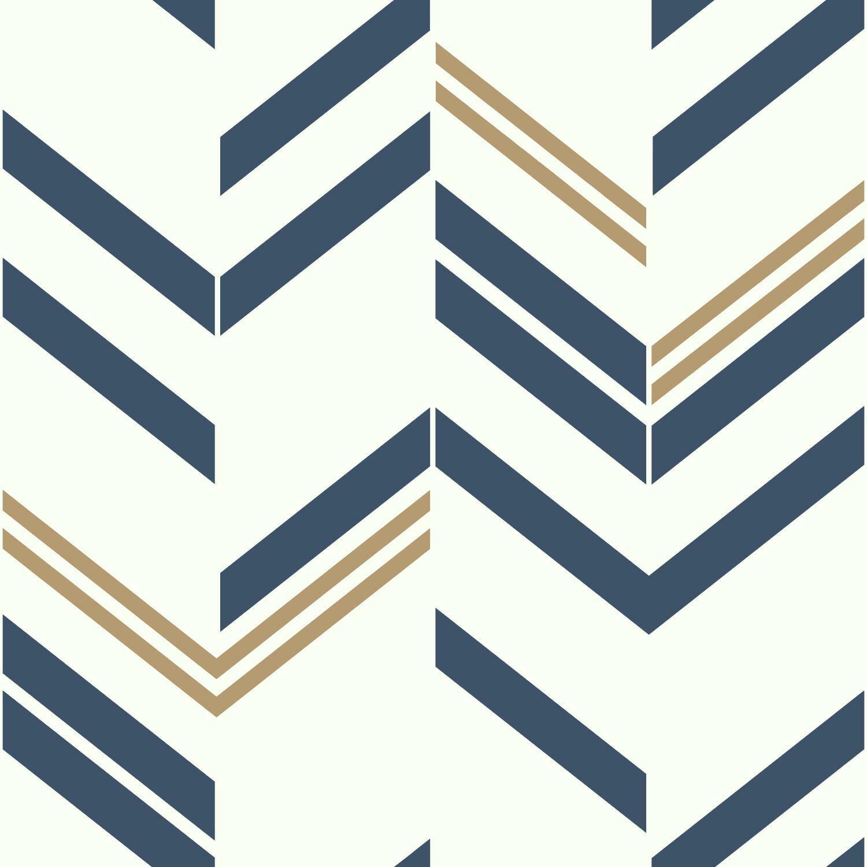 Blue Gold Wallpaper You Ll Love In 2020 Wayfair