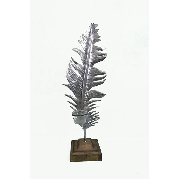 Feather Metal Tealight by Bungalow Rose