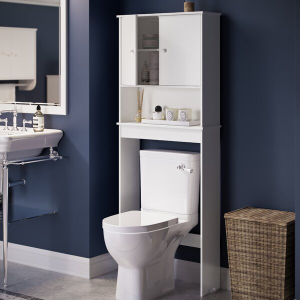 Helen 23.56 W x 61.44 H x 7.75 D Free-Standing Over-the-Toilet Storage