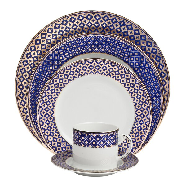 Empire 5 Piece Fine China Place Setting, Service for 1 (Set of 4) by Shinepukur Ceramics USA, Inc.