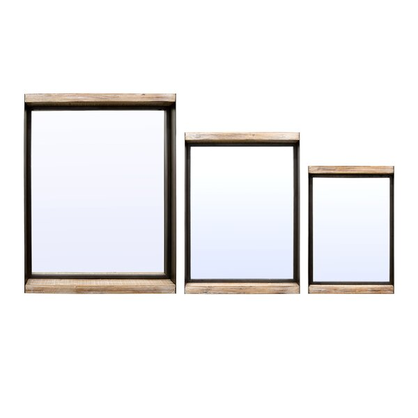 3 Piece Silvestre Shadow Boxes Mirror Set by Gracie Oaks