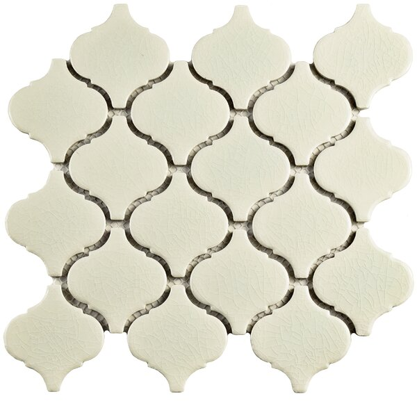 Retro Lantern 2.87 x 3.06 Ceramic Mosaic Tile in Crackle White by EliteTile