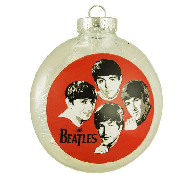 4 The Beatles Tinsel Filled Shatterproof Christmas Shaped Ornament by Northlight Seasonal
