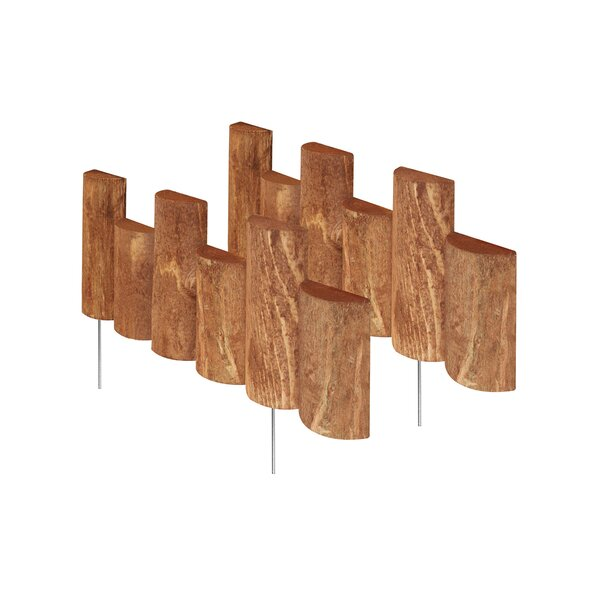 7 in. H x 18 in. W 2 Pack Half Log Edging (Set of 2) by Greenes Fence