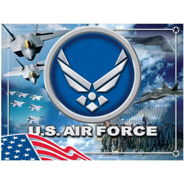 US Armed Forces Graphic Art on Wrapped Canvas by Holland Bar Stool