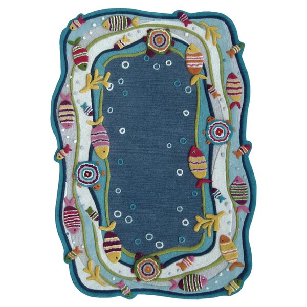 Kinder Under the Ocean Blue Area Rug by nuLOOM