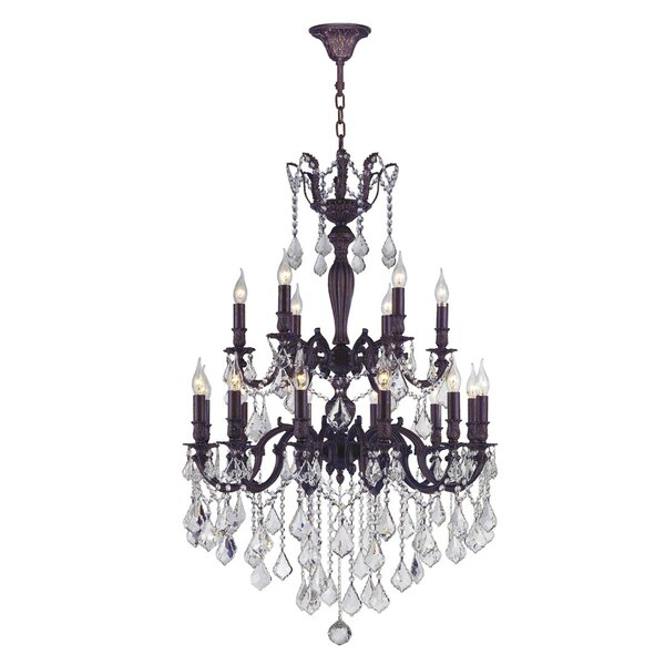 Dodson 18 - Light Chain Candle Style Tiered Chandelier by Astoria Grand Astoria Grand
